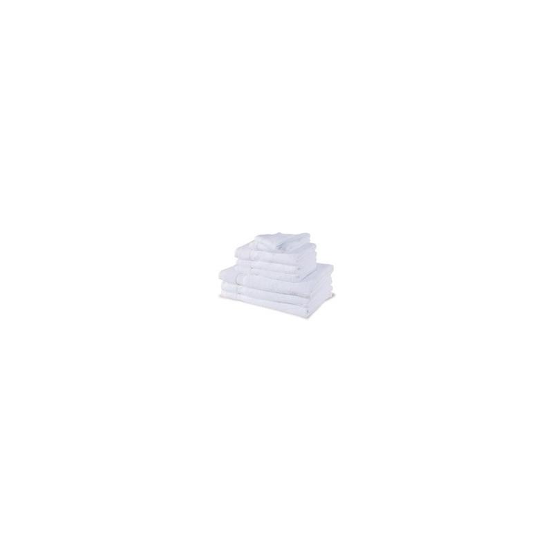 Serviette éponge blanche 30x50cm 100% coton