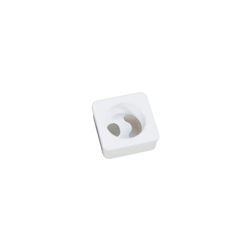 Bol de manucure carré blanc